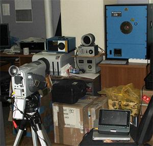 Ультрафиолетовые камеры CoroCam: Внешний вид испытательного стенда.